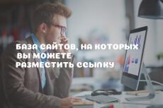 Топ база сайтов, ссылок, форумов, для бесплатного продвижения сайта 8 - kwork.ru