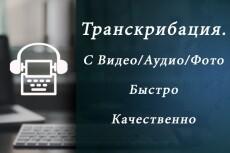 Транскрибация: перевод аудио в текст, перевод видео (фото) в текст 11 - kwork.ru