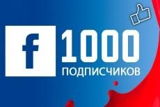 400 подписчиков в Facebook 12 - kwork.ru