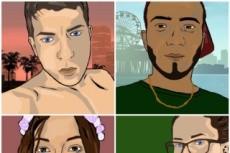 Нарисую графический портрет в мультяшном стиле 11 - kwork.ru