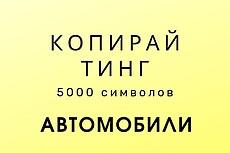 Напишу текст на автомобильную тематику 6 - kwork.ru