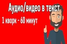 Транскрибация из аудио,видео,картинок в текст 10 - kwork.ru