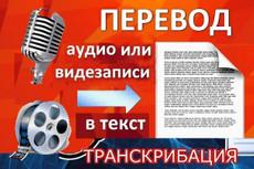 Переведу информацию из аудио или видео в текст 40 - kwork.ru