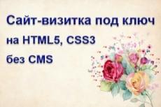 Сайт-визитка с системой управления 27 - kwork.ru