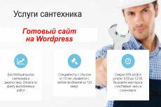 Продам шаблон сайта-визитки 51 - kwork.ru