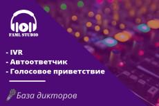 Запишу IVR, телефонное приветствие 10 - kwork.ru