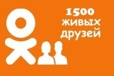 1500 ссылок живыми людьми из социальных сетей (FB, TW, OD) 6 - kwork.ru
