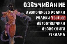 Диктор, озвучка персонажей компьютерных игр, анимаций, приложений 4 - kwork.ru