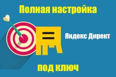 Настройка Яндекс Директ. 50 ключевых слов. Поиск, РСЯ 5 - kwork.ru