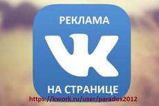 Размещу Вашу рекламу среди 200000 подписчиков ВК 9 - kwork.ru