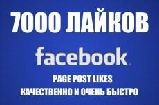 1000 лайков в Facebook живыми людьми 17 - kwork.ru
