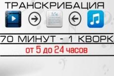 Перевод из аудио и видео в текст, из письменного в электронный 8 - kwork.ru