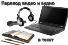 Наберу текст с аудио или видеозаписи 20 - kwork.ru