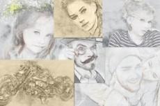 Портрет по фотографии в карандаше 12 - kwork.ru