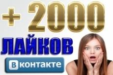 1000 качественных лайков ВКонтакте, лайки на посты, фото, комментарии 9 - kwork.ru
