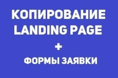 Копирование лендинга с оживлением форм 9 - kwork.ru