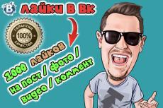 1500 лайков на фото, аву вконтакте 11 - kwork.ru