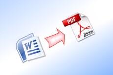 Конвертирую документы формата PDF в текстовый формат Word 12 - kwork.ru