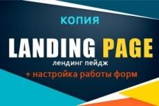 Сделаю копию Landing page, одностраничный сайт 69 - kwork.ru