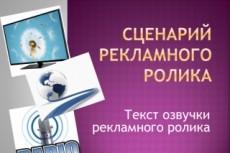 Сценарий рекламного ролика 23 - kwork.ru