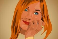 Создам стилизованный векторный портрет 22 - kwork.ru