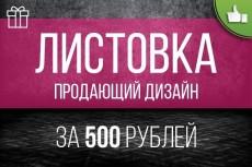 Разработаю рекламную листовку, брошюру или буклет 12 - kwork.ru