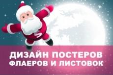 Дизайн постера 129 - kwork.ru