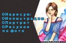 Нарисую иллюстрацию по вашей фотографии с добавлением любого персонажа 12 - kwork.ru