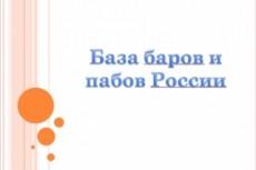 База баров России, собранных вручную 3 - kwork.ru