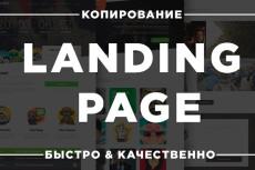 Сделаю копию Landing page, одностраничный сайт 68 - kwork.ru