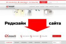 Редизайн 1 страницы сайта 20 - kwork.ru