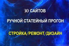 Ручной статейный прогон по 40 чистым сайтам + написание статьи 6 - kwork.ru
