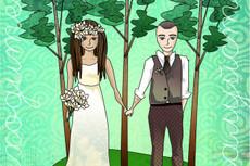 Разработаю дизайн-макет любой свадебной атрибутики 35 - kwork.ru