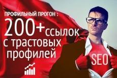 Безанкорный прогон с мини статьей 3 - kwork.ru