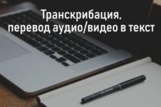 Грамотная печать текста, перевод из аудио и видео 17 - kwork.ru