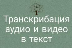 Набор текста из любого источника, перевод из аудио и видео в текст 15 - kwork.ru