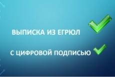 Предоставлю в кратчайшие сроки актуальную выписку из егрюл с ЭЦП 8 - kwork.ru
