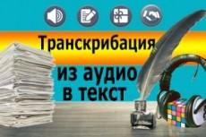 Преобразую аудио и видео в текст, учитывая пожелания заказчика 18 - kwork.ru