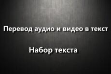 Наберу текст с аудио- видеоформатов. Транскрибация 18 - kwork.ru