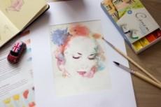 Нарисую портрет в стиле Дрим арт, Акварель 24 - kwork.ru