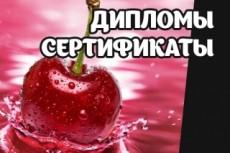 Разработаю диплом, сертификат 28 - kwork.ru