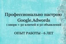 Настрою вам Adwords 22 - kwork.ru