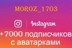 5000 русских подписчиков в Инстаграм. Раскрутка в instagram 3 - kwork.ru