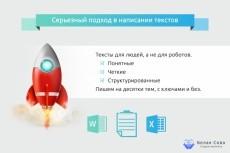 Напишу тексты любой тематики 35 - kwork.ru