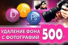 Удаление фона с фотографии 21 - kwork.ru