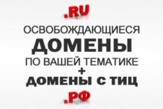 Подберу для Вас 1 освобождающийся домен с Тиц 80 в зоне RU 4 - kwork.ru