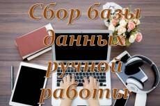 Вручную соберу актуальную базу данных за 1 день 29 - kwork.ru