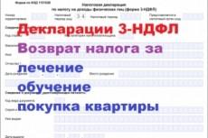 Проконсультирую, помогу заполнить декларацию 3-НДФЛ 13 - kwork.ru
