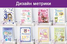 Метрика, детская метрика 10 - kwork.ru