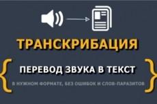 Перевод аудио, видео, pdf в текст 19 - kwork.ru
